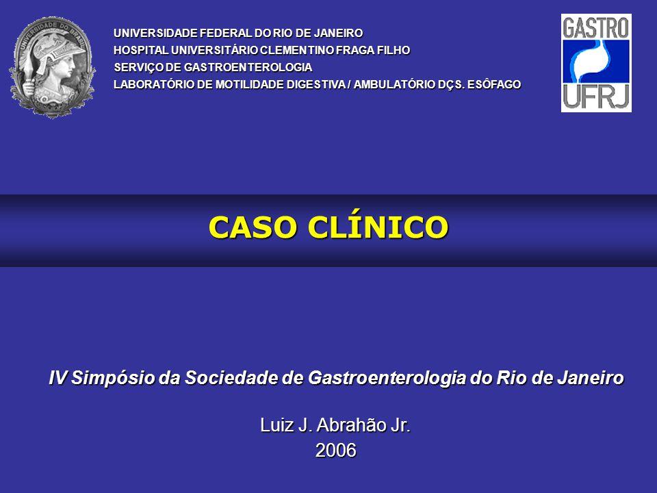 IV Simpósio da Sociedade de Gastroenterologia do Rio de Janeiro
