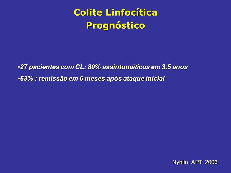 Colite Linfocítica Prognóstico