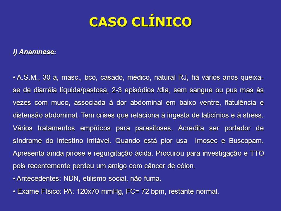 CASO CLÍNICO I) Anamnese: