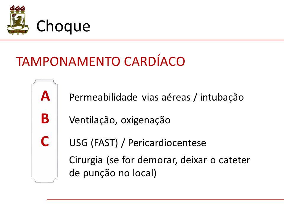 Choque A Permeabilidade vias aéreas / intubação