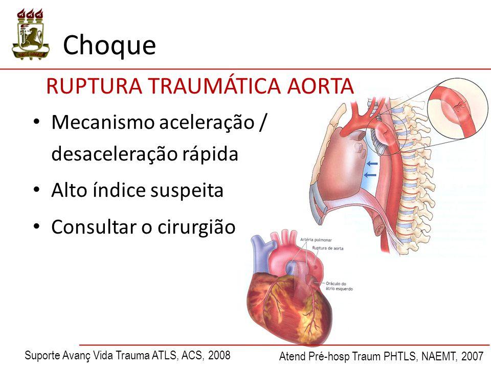 Choque RUPTURA TRAUMÁTICA AORTA