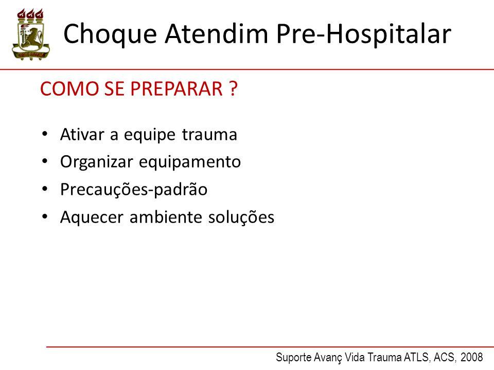 Choque Atendim Pre-Hospitalar