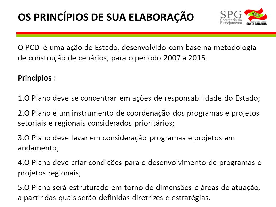 OS PRINCÍPIOS DE SUA ELABORAÇÃO