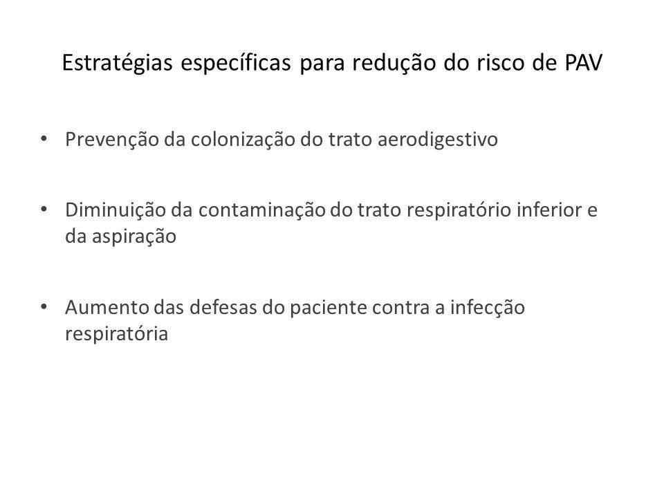 Estratégias específicas para redução do risco de PAV
