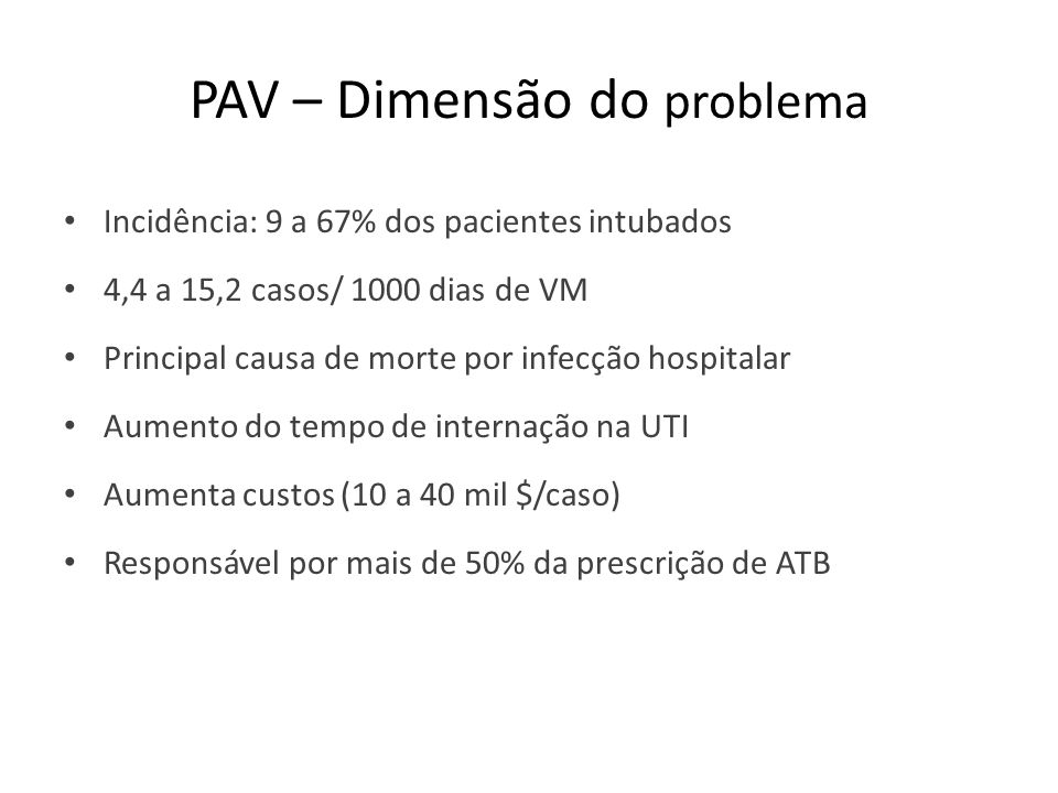 PAV – Dimensão do problema