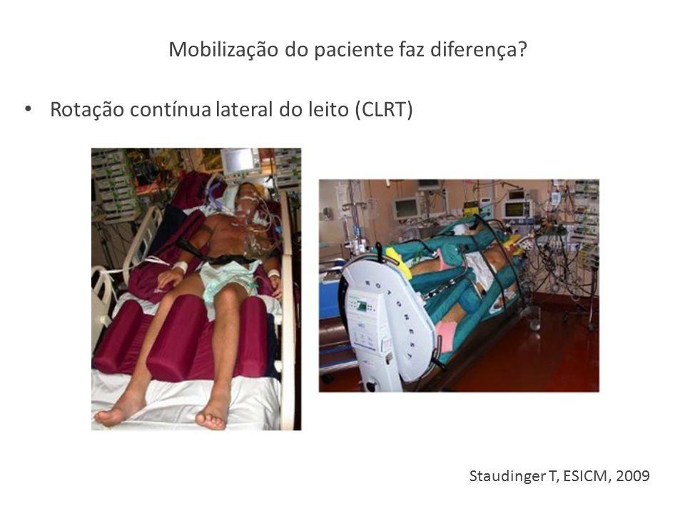 Mobilização do paciente faz diferença
