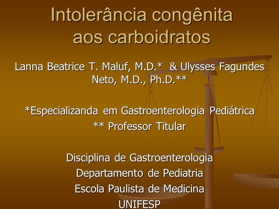 Intolerância congênita aos carboidratos