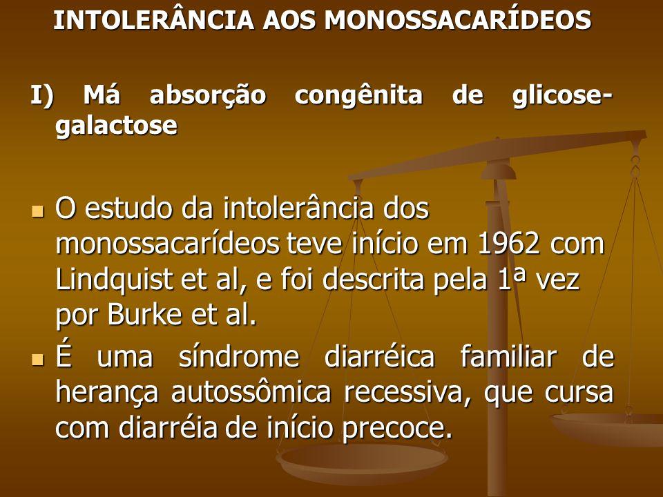INTOLERÂNCIA AOS MONOSSACARÍDEOS