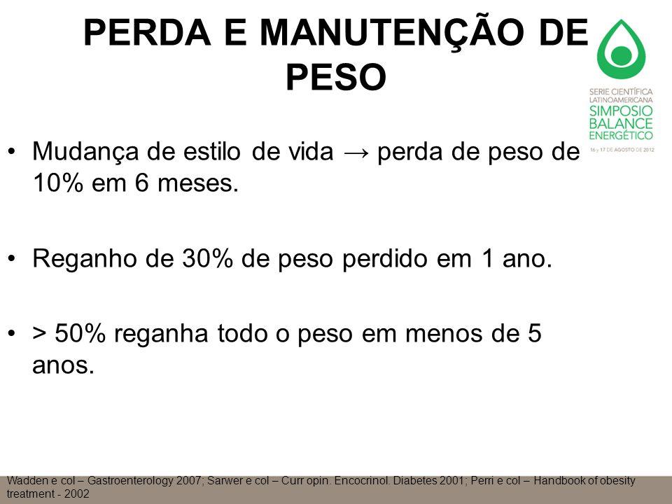 PERDA E MANUTENÇÃO DE PESO