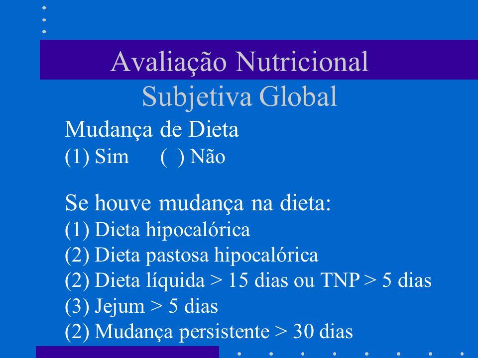 Avaliação Nutricional Subjetiva Global