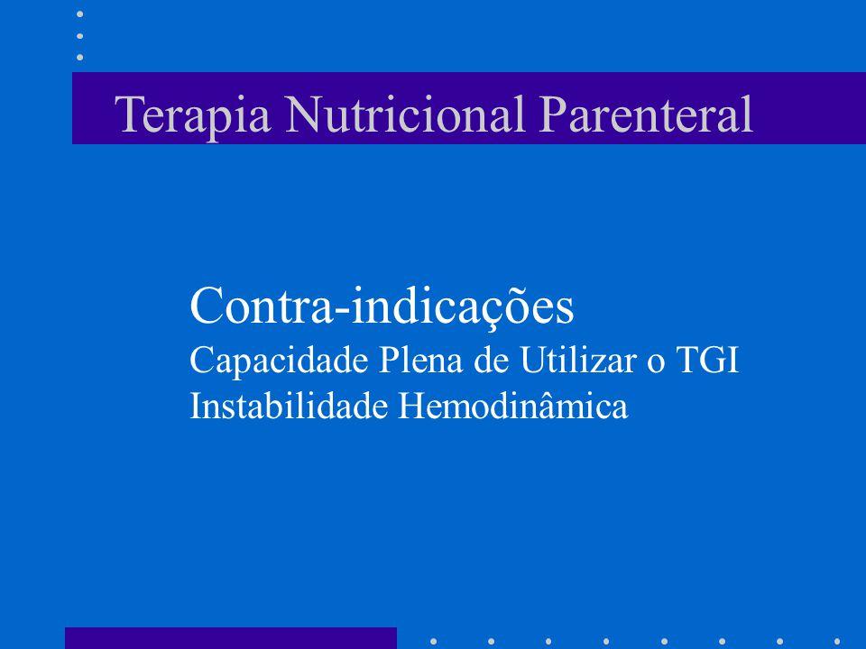 Terapia Nutricional Parenteral