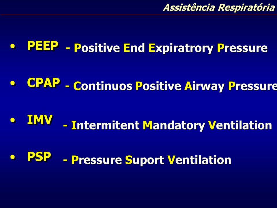 PEEP CPAP IMV PSP - Positive End Expiratrory Pressure