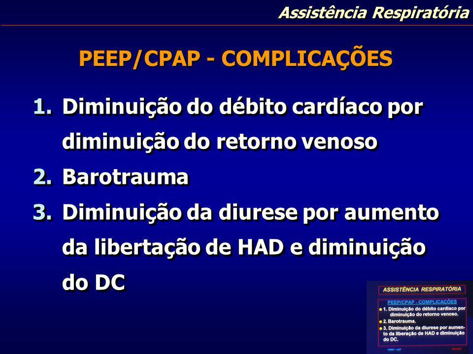 PEEP/CPAP - COMPLICAÇÕES