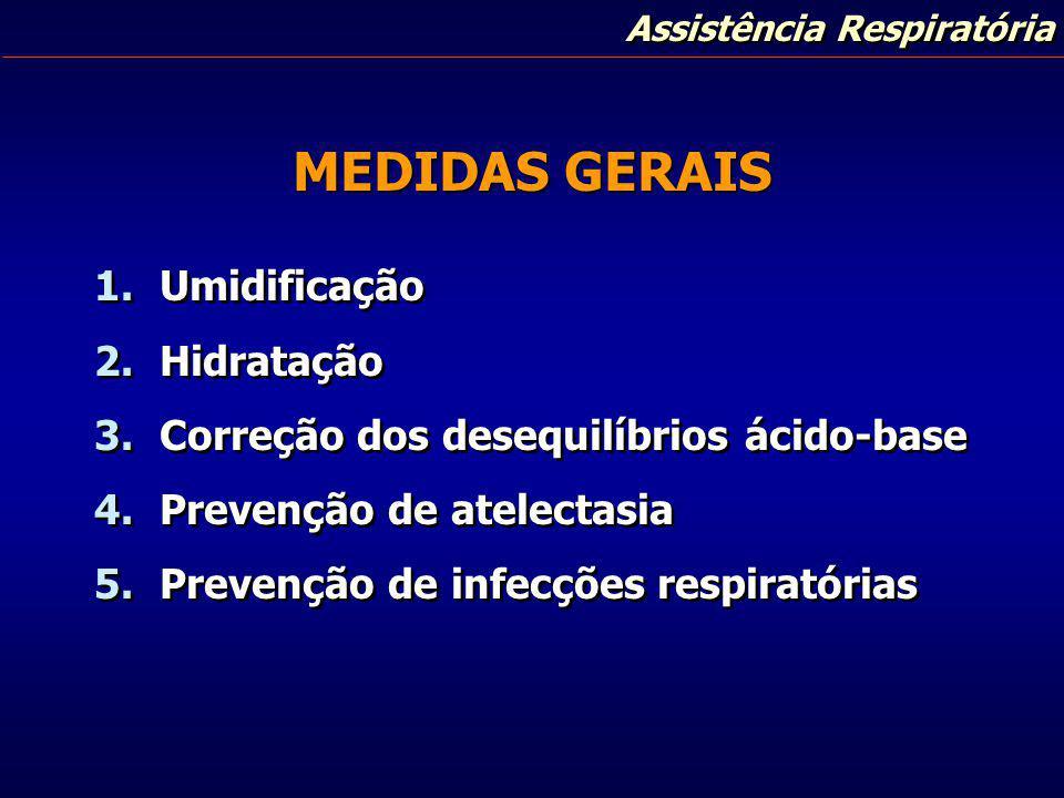 MEDIDAS GERAIS Umidificação Hidratação