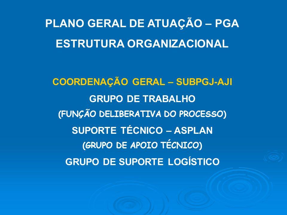 PLANO GERAL DE ATUAÇÃO – PGA ESTRUTURA ORGANIZACIONAL