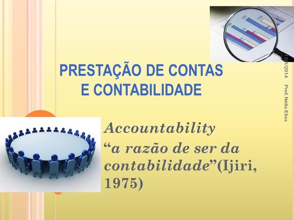 PRESTAÇÃO DE CONTAS E CONTABILIDADE