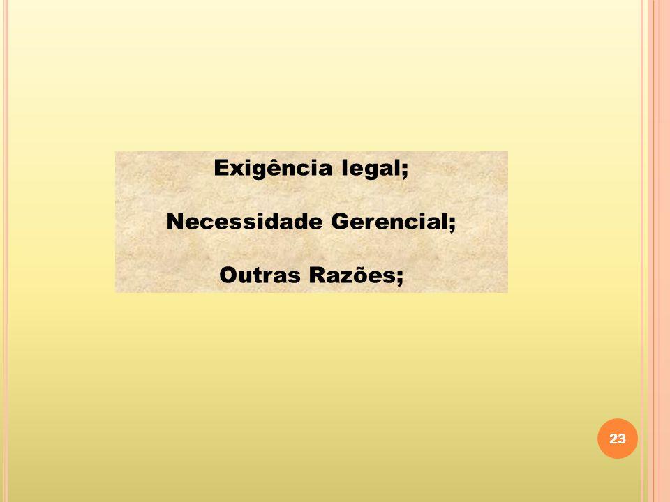 Necessidade Gerencial;