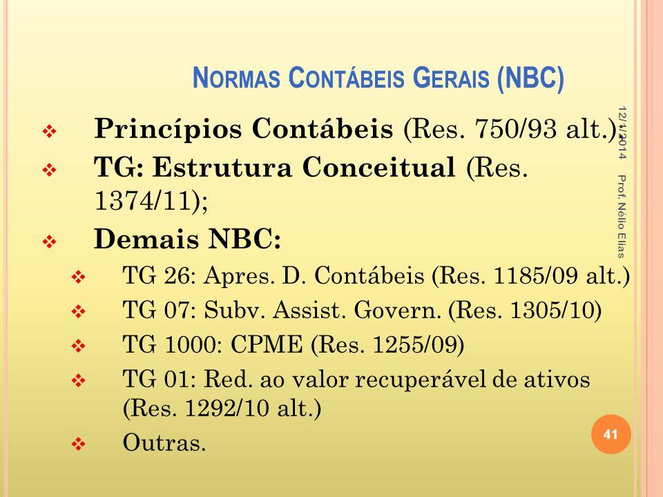 Normas Contábeis Gerais (NBC)