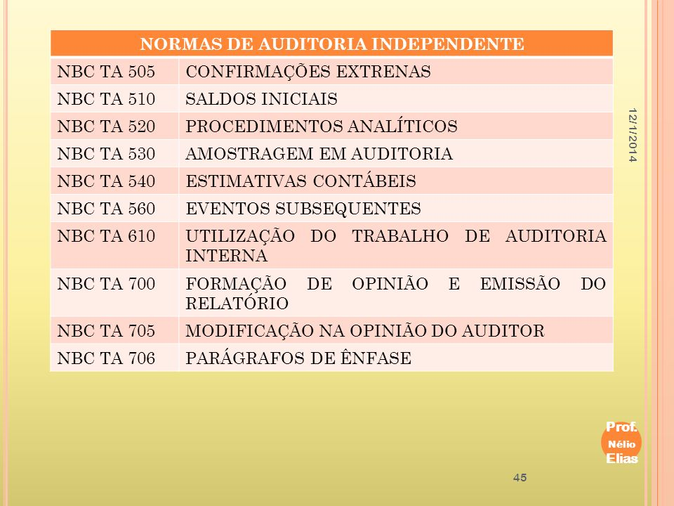 NORMAS DE AUDITORIA INDEPENDENTE