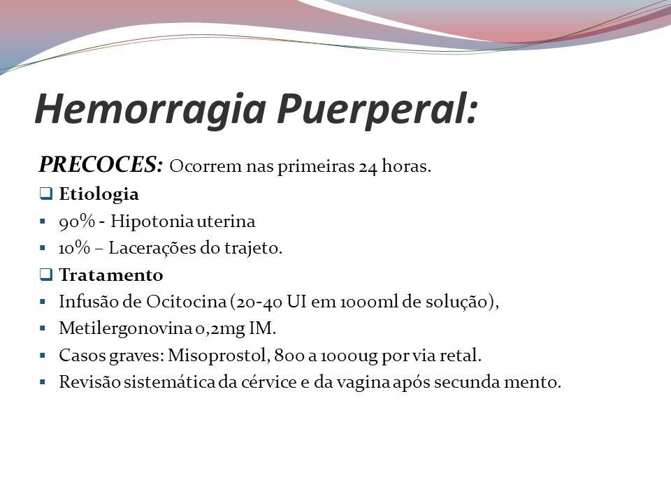 Hemorragia Puerperal: