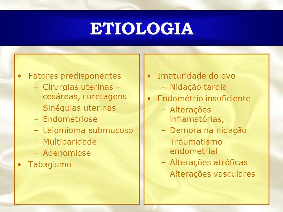 ETIOLOGIA Fatores predisponentes