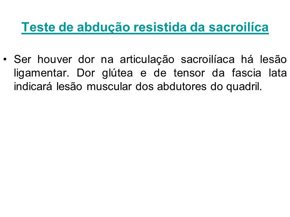 Teste de abdução resistida da sacroilíca