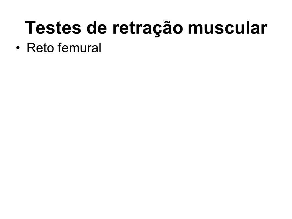 Testes de retração muscular