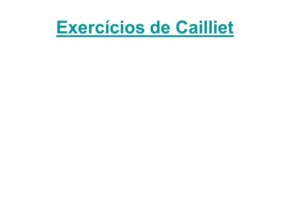 Exercícios de Cailliet