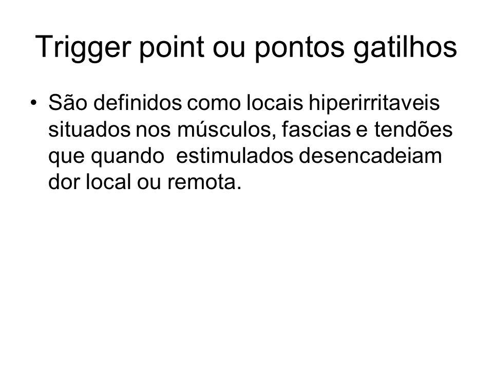 Trigger point ou pontos gatilhos