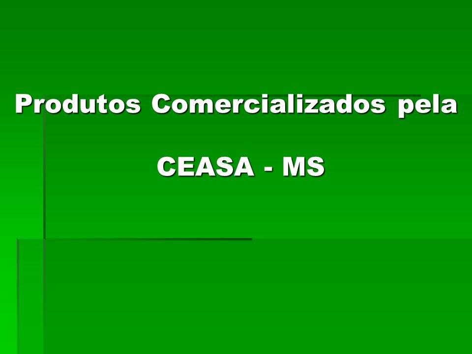 Produtos Comercializados pela CEASA - MS