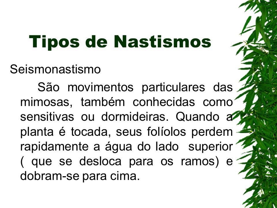 Tipos de Nastismos Seismonastismo