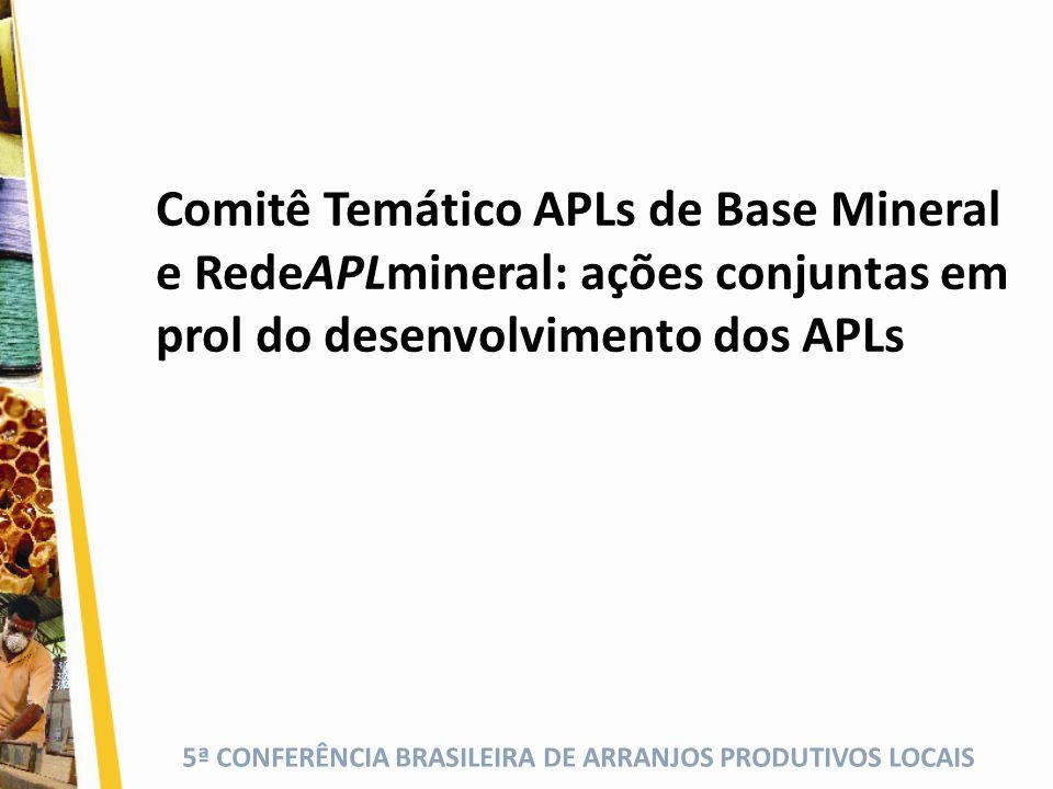 Comitê Temático APLs de Base Mineral e RedeAPLmineral: ações conjuntas em prol do desenvolvimento dos APLs