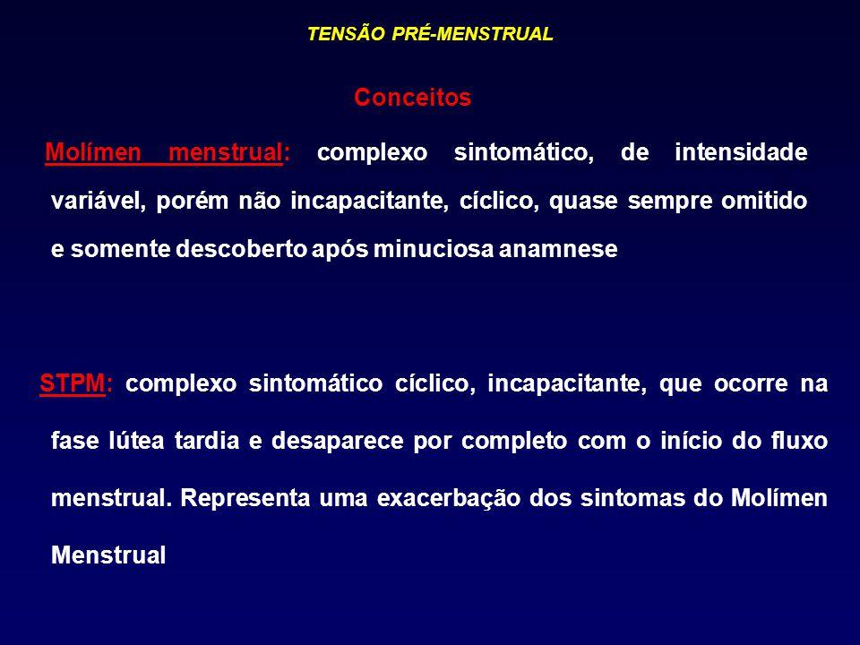TENSÃO PRÉ-MENSTRUAL Conceitos.