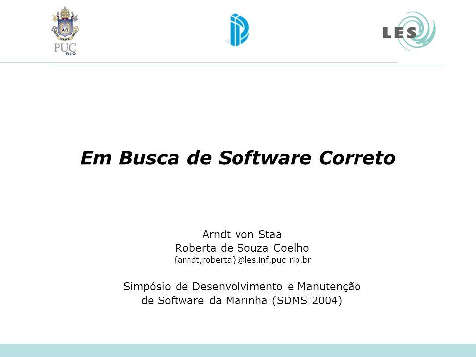Em Busca de Software Correto