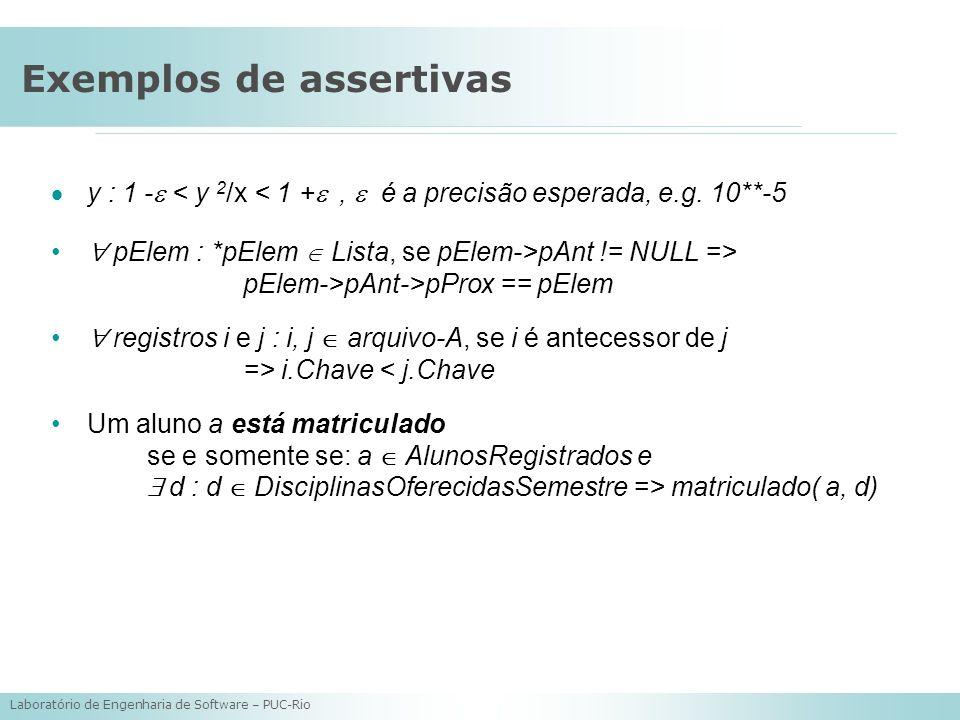 Exemplos de assertivas