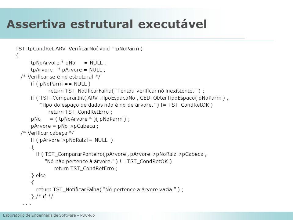 Assertiva estrutural executável