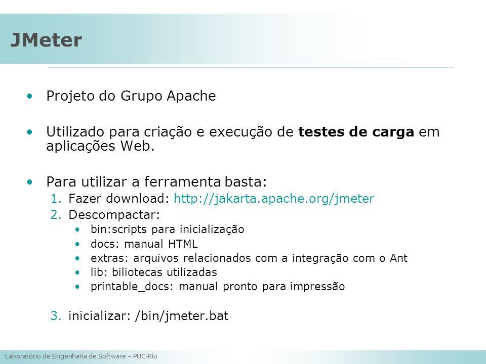 JMeter Projeto do Grupo Apache