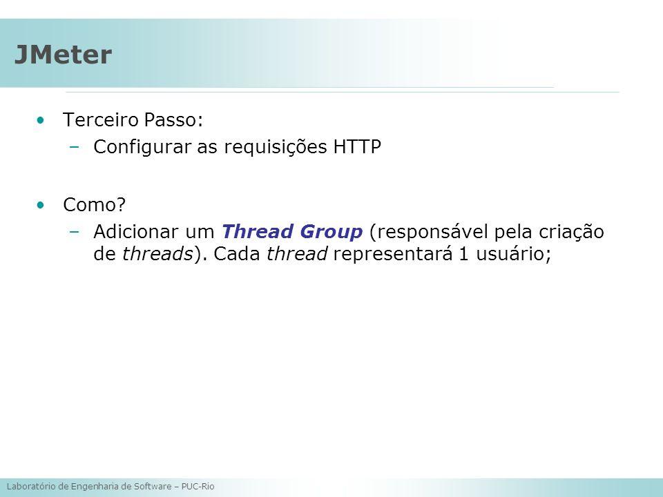 JMeter Terceiro Passo: Configurar as requisições HTTP Como