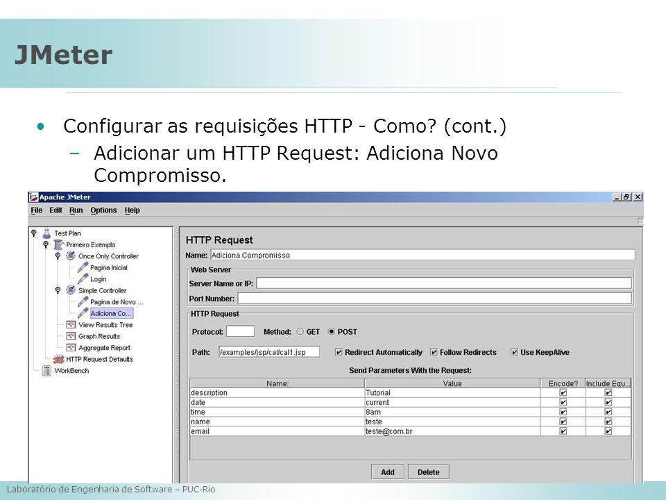 JMeter Configurar as requisições HTTP - Como (cont.)