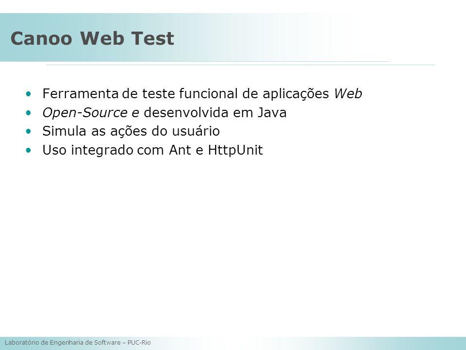 Canoo Web Test Ferramenta de teste funcional de aplicações Web