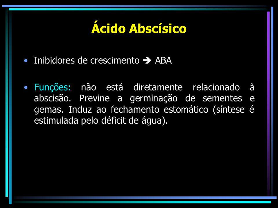 Ácido Abscísico Inibidores de crescimento  ABA
