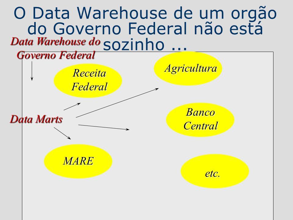 O Data Warehouse de um orgão do Governo Federal não está sozinho ...