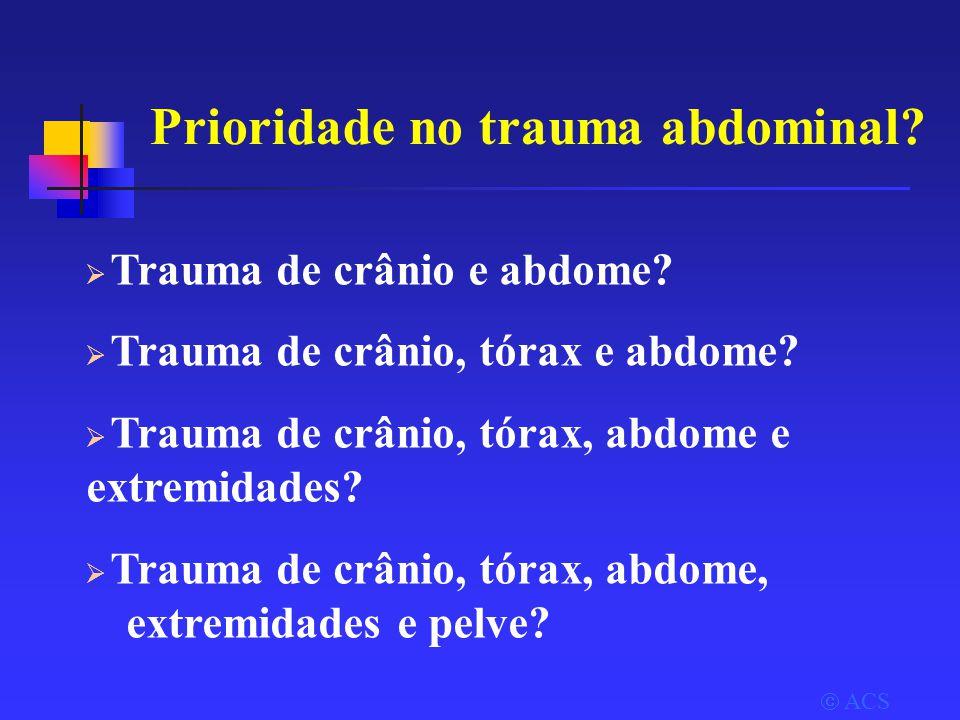 Prioridade no trauma abdominal