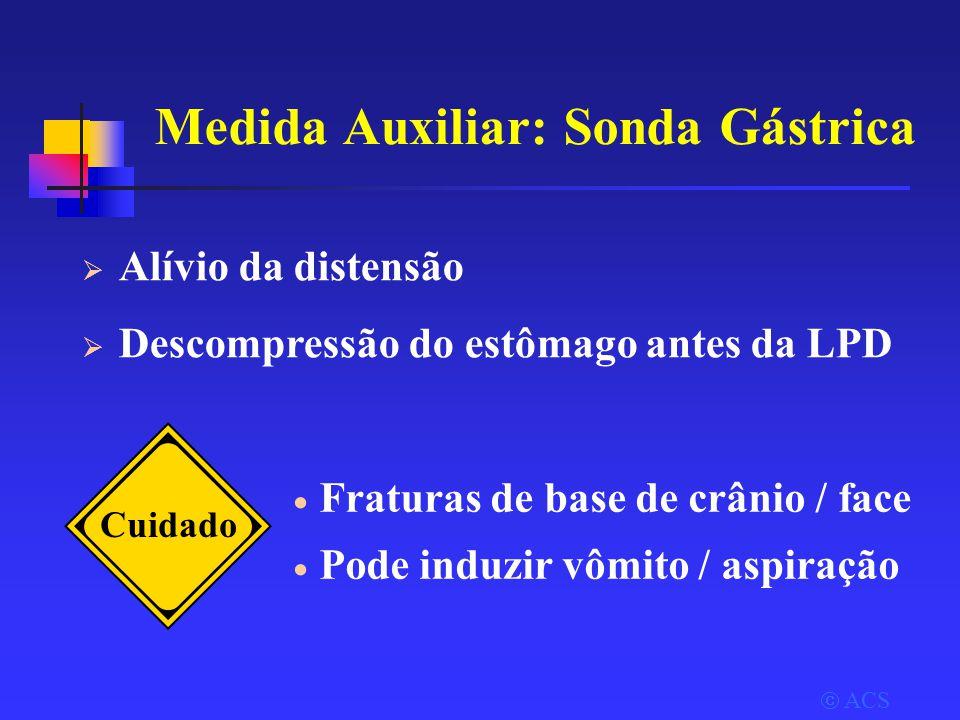 Medida Auxiliar: Sonda Gástrica