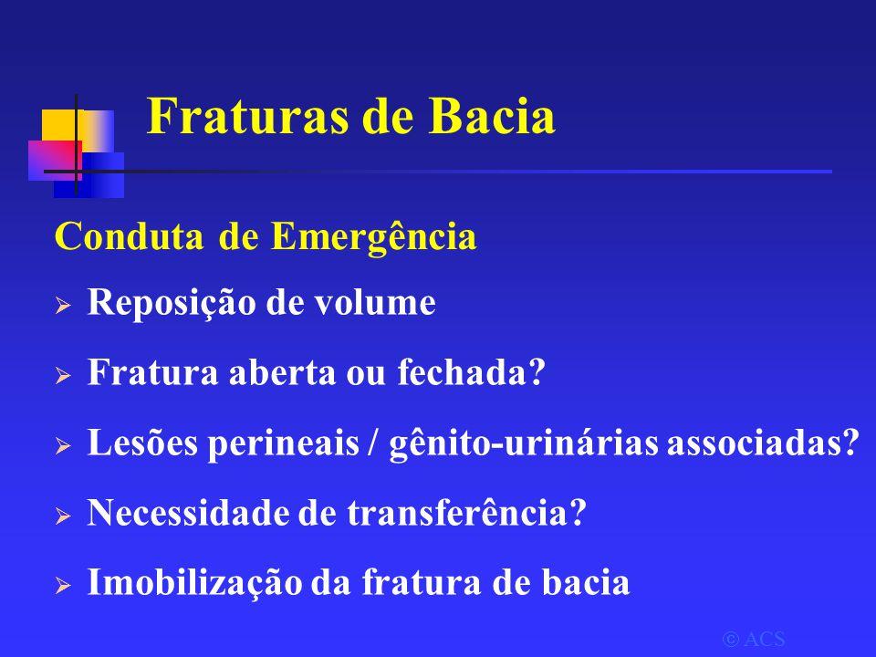 Fraturas de Bacia Conduta de Emergência Reposição de volume