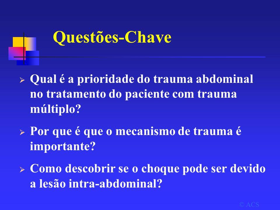Questões-Chave Qual é a prioridade do trauma abdominal no tratamento do paciente com trauma múltiplo