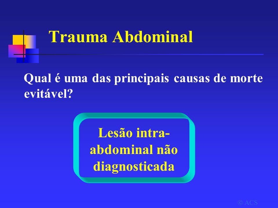 Lesão intra-abdominal não diagnosticada