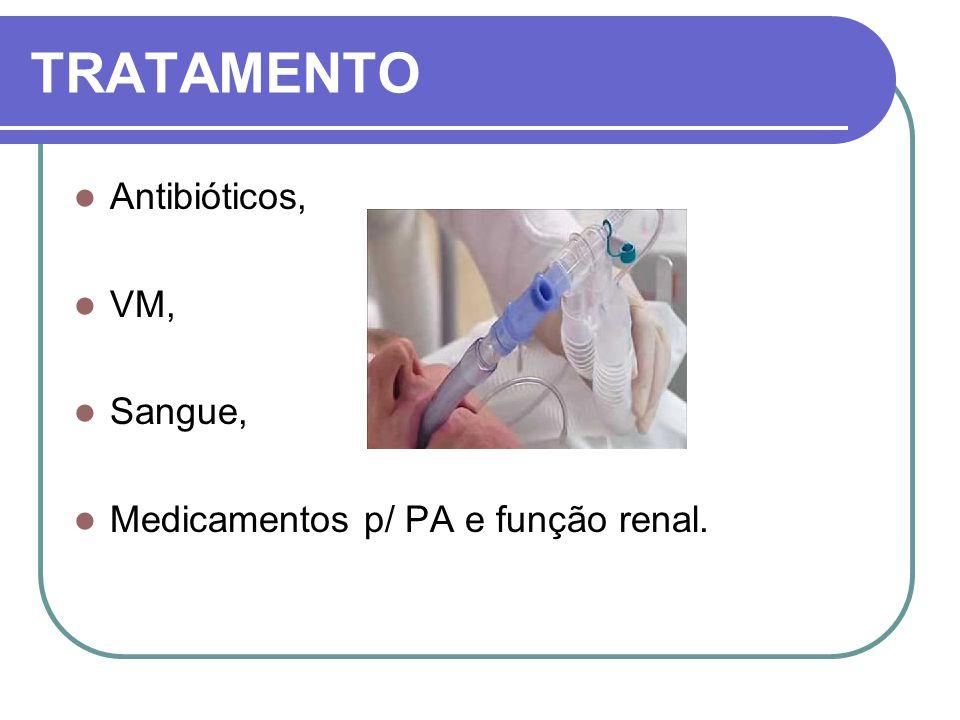 TRATAMENTO Antibióticos, VM, Sangue,