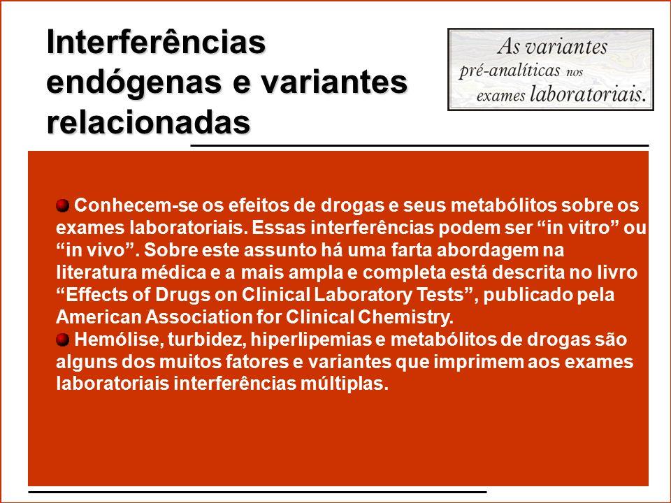Interferências endógenas e variantes relacionadas