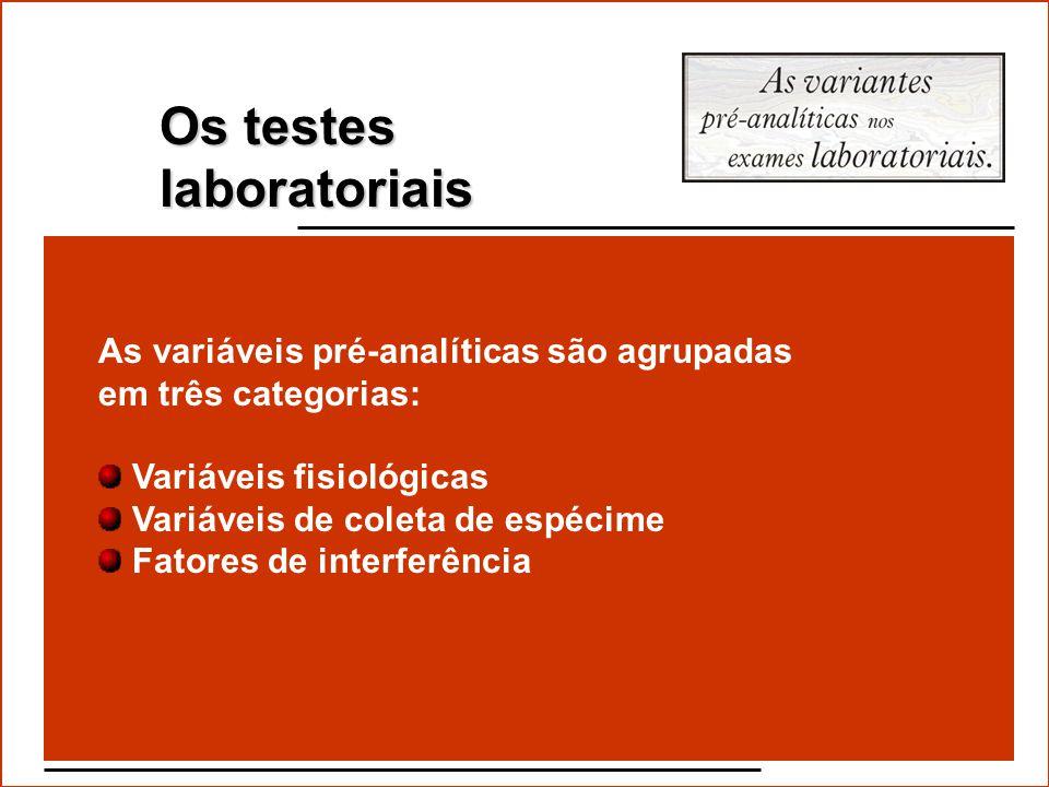 Os testes laboratoriais